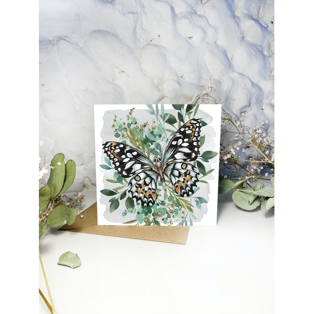 Laura Elizabeth Illustrations Butterfly Greetings Card
