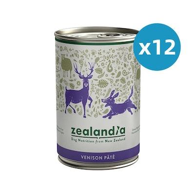 ZEALANDIA Venison Pate Dog Wet Food 385g x 12