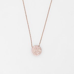 I Dream of Silver Cubic Zirconia Circle Necklace (Freya)