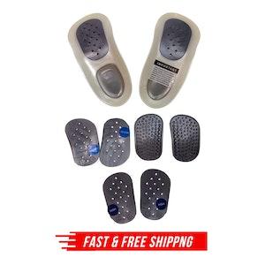 WALKFIT ORTHOTICS Insoles Walk Fit Foot Feet Support PLATINUM SILVER New