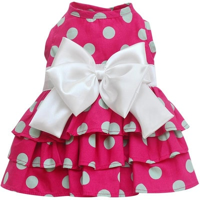 DoggyDolly SMALL DOG - Hot Pink Party Doggy Dress