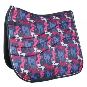 HKM Piccola All Over Print Saddle Pad - Pony
