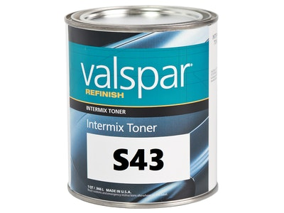 Valspar Refinish S43 Silver Dollar Metallic Fine Low VOC 1Qt