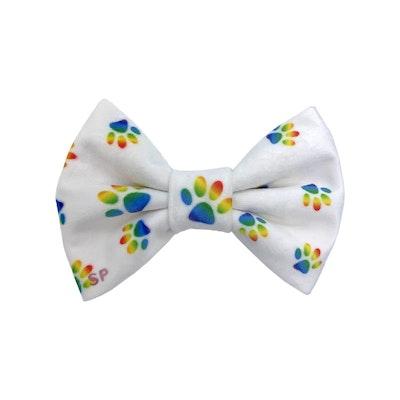 Swanky Paws Rainbow Paws Dog Bow Tie