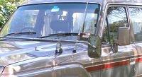 Caravan towing mirror blues