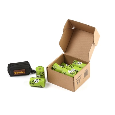 Charlie's Eco-Friendly Biodegradable Doogy Poop Bags and Pouch Dispenser - 240 Bags