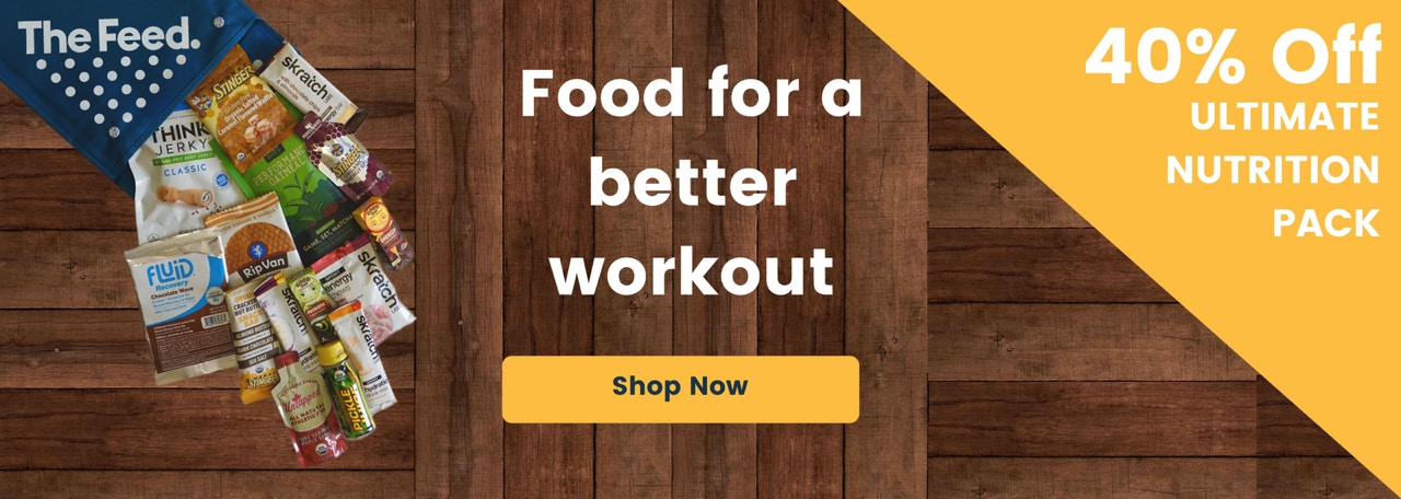 Food  for a better workout. Receive 40% off on the Ultimate Nutrition Pack from The Feed