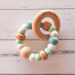 Cheeky Toes™ Cheeky RATTLE Teething Toy I GRITTY LUXXE Collection