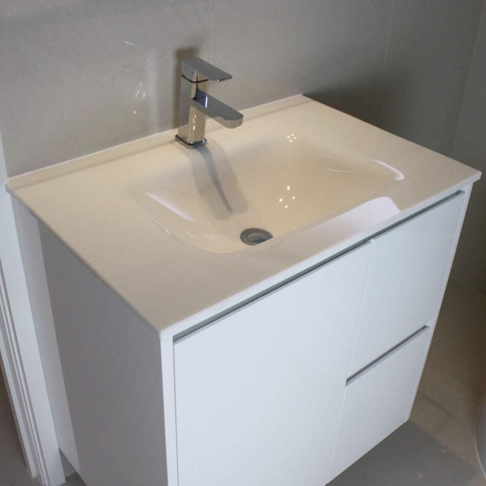 Bathroom Vanity Downlights : Aurora Micro Crystal Glass Vanity Top 750mm Bathroom Vanity Tops for sale in Summer Hill