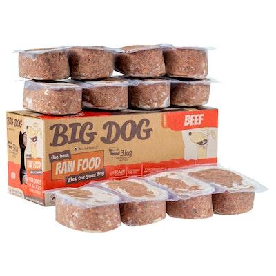 Big Dog Frozen Raw Dog Food Beef - 3kg