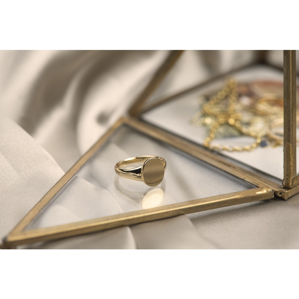 Jessica Alice Jewellery Gold Plated Classic Signet Ring