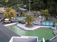 Thermal pools from the top of Dragon  water slide Taupo
