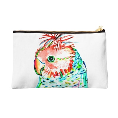 Iconic Colours Zipper Pouch- Outstanding Gang Gang Cockatoo