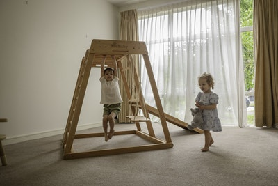 Riababy Toys Riababy Wooden Indoor Climbing Playhouse Kids Gym