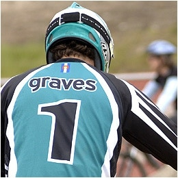 Graves on podium in Beijing BMX