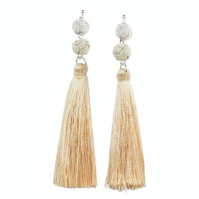 Global Sisters Shop Takara Tassel Earrings - Natural