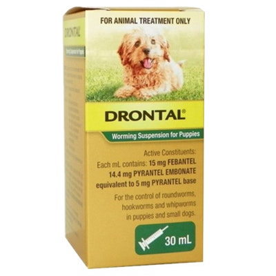 Drontal Puppy Small Dog Worming Suspension 30ml