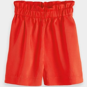 Scotch & Soda Keoni High Waisted Shorts - Flame Red