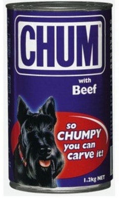Chum With Beef Flavour Adult Dog Food 1.2kg x 12