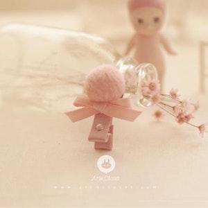 Pink Ribbon Hairpin with Swarovski crystal