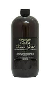 Euclove Handwash Lemongrass, Palmarosa & Cedarwood 1 litre refill