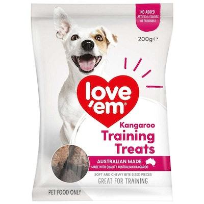 Love'em Love Em Dog Food Kangaroo Training Mini Treats 200g