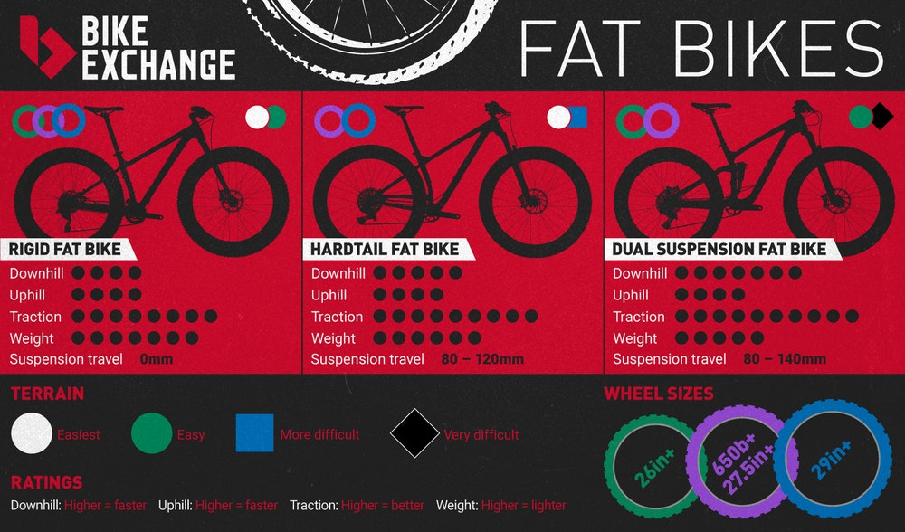 BE Infographics fatbikes guide 2017