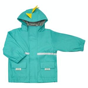 Silly Billyz Large Dino Hood Aqua Waterproof Jacket