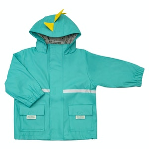 Silly Billyz XL Dino Hood Aqua Waterproof Jacket