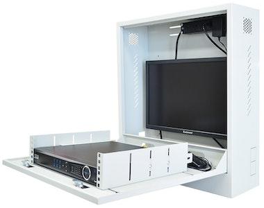 VIP Vision VIP Vertical drop door wall mount CCTV security cabinet