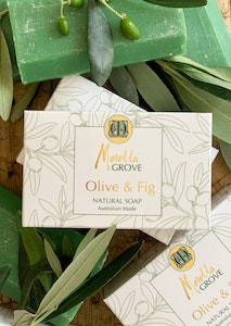 Natural Olive Oil Boxed Soap Bars with a Fig Fragrance