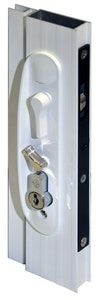 Archie Hardware Archie screen door lock for sliding doors in white finish (Cylinder not included)