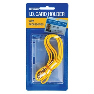 Kevron clear ID holder for Proximity Access Cards, Driver's Licence, Security Licence and Fuel Card with break-away lanyard