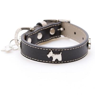 Hamish McBeth Black Bling Dog Collar