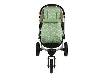 Keep Me Cosy™ Footmuff + Pram Liner 2 in 1 Set (Infant) – Cloud Mint design