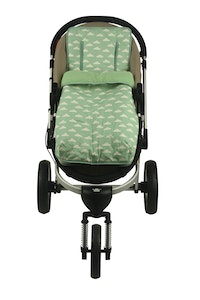 Keep Me Cosy™ Footmuff + Pram Liner 2 in 1 Set (Infant) – Cloud Mint design