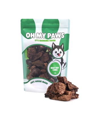 Oh My Paws Beef Puff Cubes