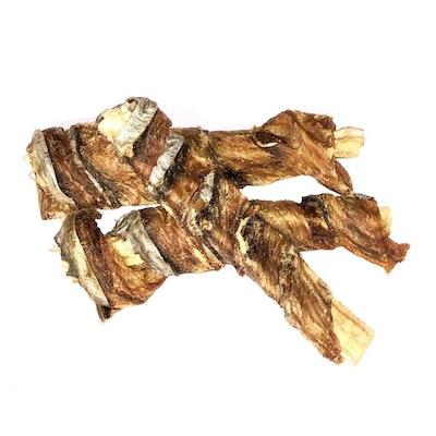 Bugsy's Pet Supplies LONG LASTING | Mackerel Skin Twists