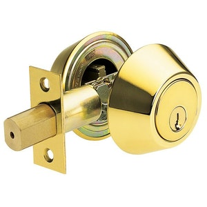 Brava Urban D372B heavy duty double cylinder dead bolt in polished brass finish