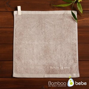Bamboo Towel with Hanging Loop (Warm Grey)