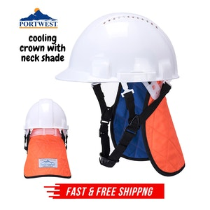 Portwest Cooling Crown with Neck Shade Lightweight Comfortable - Orange/Blue