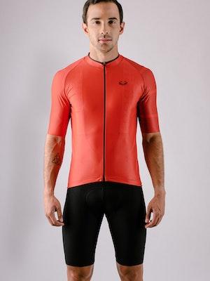 Taba Fashion Sportswear Camiseta Ciclismo Hombre Rubí