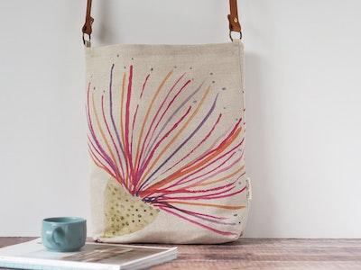 Printed linen tote bag - Big gum