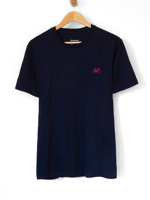 The General Classification GC Wheels Logo Embroidered Tee Navy
