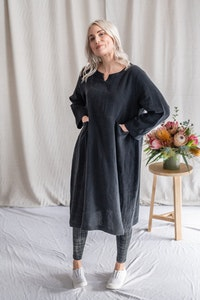 Lagom Dress - Washed Black