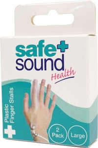Safe + Sound Plastic Finger Stall Reusable Large