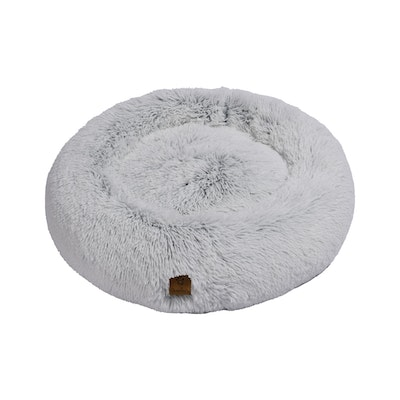 Charlie's Faux Fur Fluffy Calming Pet Bed Nest Artic White Chinchilla
