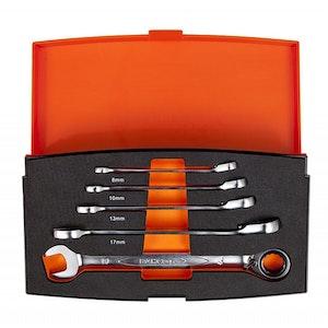 1RM/S5 Spanner Set 5 Piece Combination Reversible Ratchet 1RM/S5