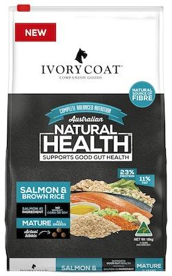 IVORY COAT Wholegrain Dry Dog Food Mature Salmon & Brown Rice 18kg
