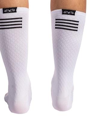 """Taba Fashion Sportswear Media Ciclismo Super Rombito Blanco 7"""""""